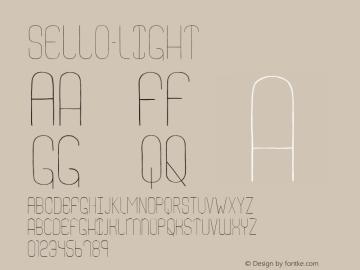 Sello-Light ☞ Version 1.001;PS 001.001;hotconv 1.0.56;com.myfonts.easy.alex-jacque.sello.light.wfkit2.version.3DhB Font Sample