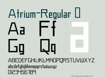 Atrium-Regular ☞ Version 1.030;PS 001.001;hotconv 1.0.56;com.myfonts.easy.alex-jacque.atrium.regular.wfkit2.version.3Nph Font Sample