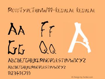 MotoTypeThinW00-Regular Regular Version 1.10 Font Sample