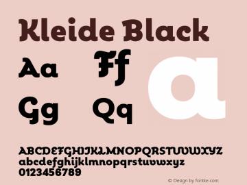 Kleide Black Version 1.000; initial release Font Sample