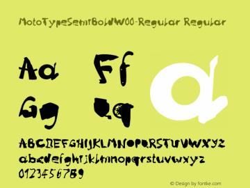 MotoTypeSemiBoldW00-Regular Regular Version 1.10 Font Sample