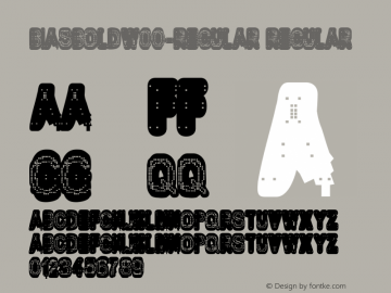 BiasBoldW00-Regular Regular Version 1.10 Font Sample