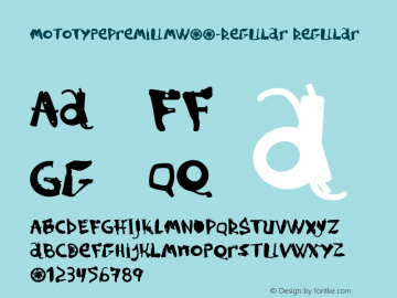 MotoTypePremiumW00-Regular Regular Version 1.10 Font Sample