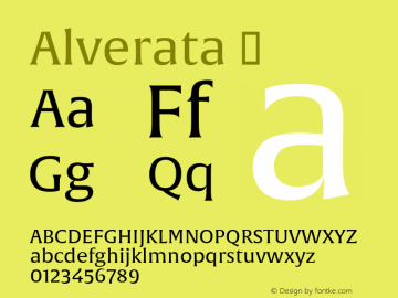 Alverata ☞ Version 1.001;com.myfonts.easy.type-together.alverata.regular.wfkit2.version.4orZ Font Sample