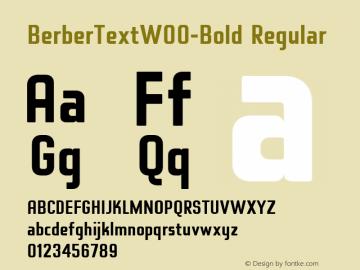 BerberTextW00-Bold Regular Version 2.00图片样张