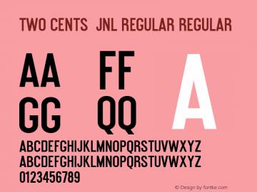 Two Cents  JNL Regular Regular Version 1.000 - 2012 initial release;com.myfonts.easy.jnlevine.two-cents-plain.jnl.wfkit2.version.3Tud Font Sample