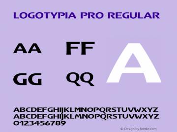 Logotypia Pro Regular Version 2.101;PS 002.001;Core 1.0.38 Font Sample