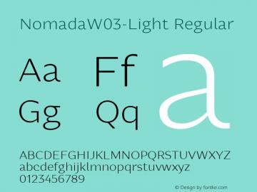 NomadaW03-Light Regular Version 1.00 Font Sample