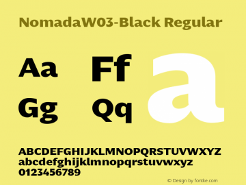 NomadaW03-Black Regular Version 1.00 Font Sample