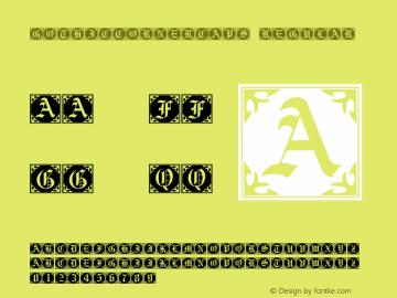 GothicCornerCaps Regular Macromedia Fontographer 4.1 2000-10-01 Font Sample