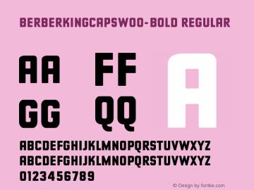 BerberKingCapsW00-Bold Regular Version 2.00图片样张