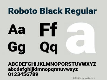 Roboto Black Regular Version 2.001171; 2014图片样张