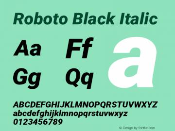 Roboto Black Italic Version 2.001171; 2014图片样张