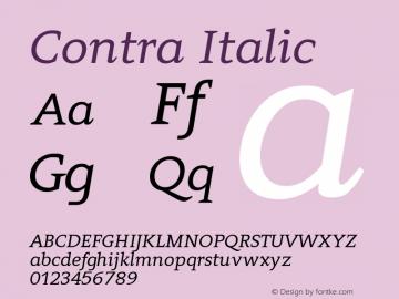 Contra Italic 0.7图片样张