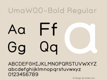 UmaW00-Bold Regular Version 1.00 Font Sample