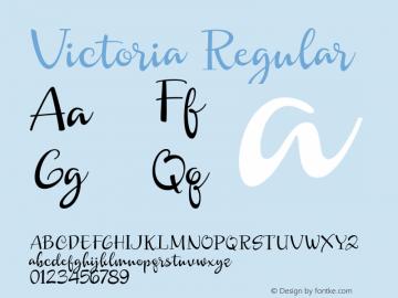 Victoria Font|Victoria Version 1 000 Font-TTF Font/Uncategorized
