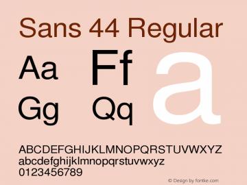 Sans 44 Regular Version $Revision: 2268 $图片样张
