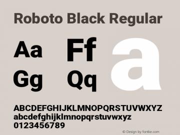 Roboto Black Regular Version 2.1289图片样张
