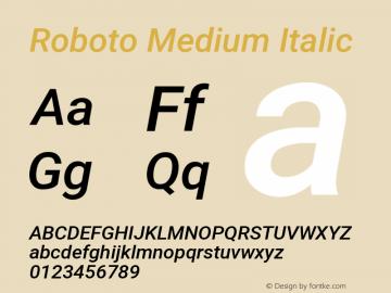 Roboto Medium Italic Version 2.1289图片样张
