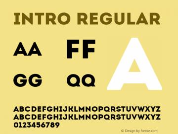Intro Regular Version 1.000 Font Sample