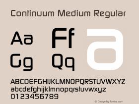 Continuum Medium Regular Version 001.000 Font Sample