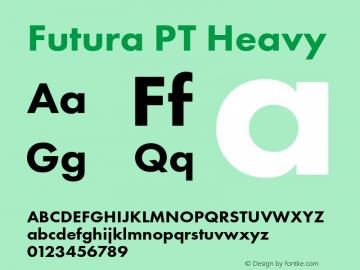Futura PT Heavy Version 1.700图片样张