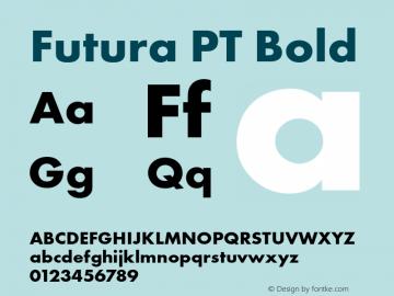 Futura PT Bold Version 1.700图片样张