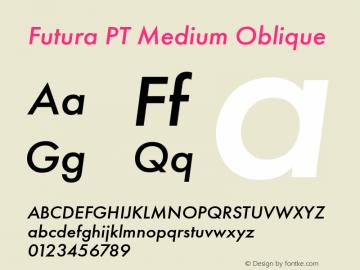 Futura PT Medium Oblique Version 1.700图片样张