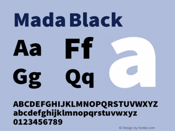 Mada Black Version 0.3 Font Sample