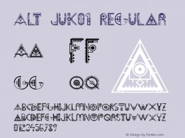 Alt Juk01 Regular Unknown Font Sample