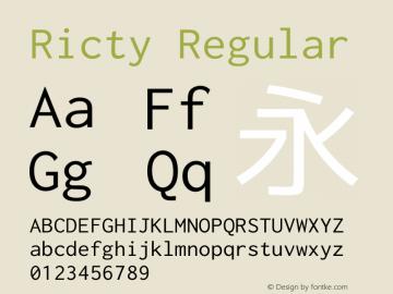 Ricty Regular Version 3.2.4b图片样张