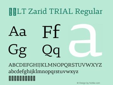 29LT Zarid TRIAL Regular Version 1.000;PS 001.000;hotconv 1.0.88;makeotf.lib2.5.64775图片样张