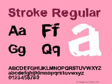 Stroke Regular 001.000 Font Sample