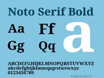 Noto Serif Bold Version 1.06 Font Sample