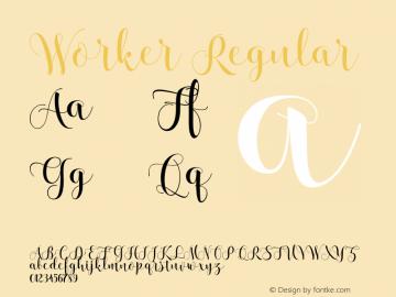 Worker Regular Version 1.000; ttfautohint (v1.4.1)图片样张