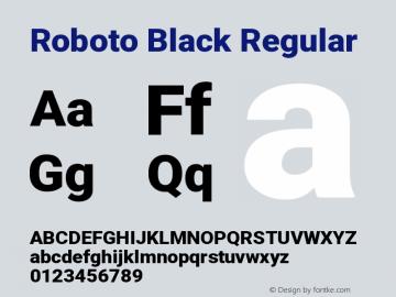 Roboto Black Regular Version 2.131图片样张
