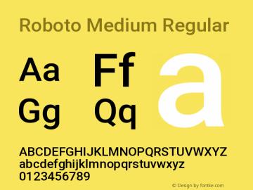 Roboto Medium Regular Version 2.131图片样张