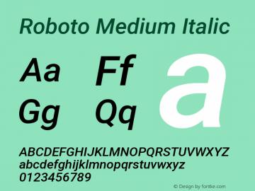 Roboto Medium Italic Version 2.131图片样张