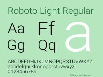 Roboto Light Regular Version 2.131图片样张