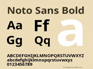 Noto Sans Bold Version 1.06 Font Sample