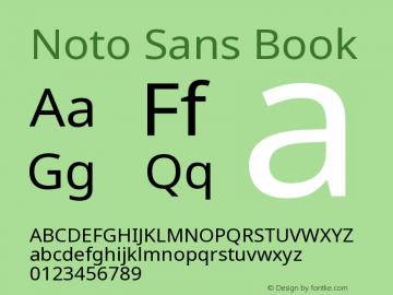 Noto Sans Book Version 1.06 Font Sample