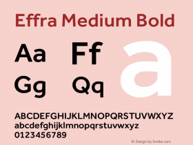 Effra Medium Bold Version 1.000 Font Sample