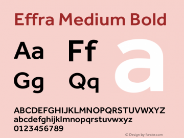 Effra Medium Bold Version 1.000图片样张