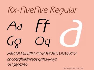 Rx-FiveFive Regular Version 0.9; 2000图片样张