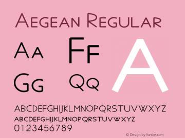 Aegean Regular Version 8.91图片样张