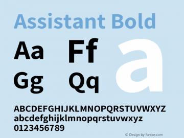 Assistant Bold Version 2.001 Font Sample