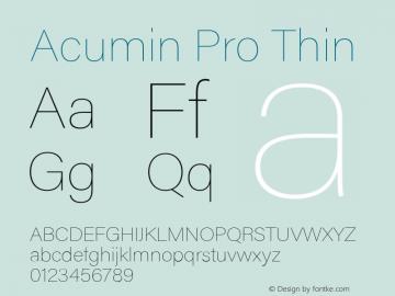 Acumin Pro Thin Version 1.011 Font Sample