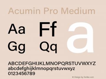 Acumin Pro Medium Version 1.011 Font Sample