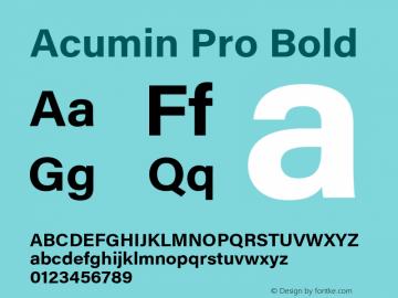 Acumin Pro Bold Version 1.011 Font Sample