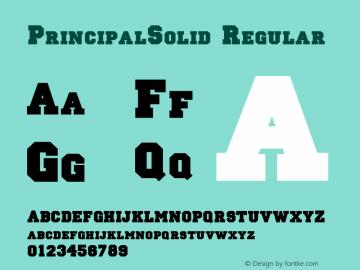 PrincipalSolid Regular Version 1.0 20-10-2002 Font Sample